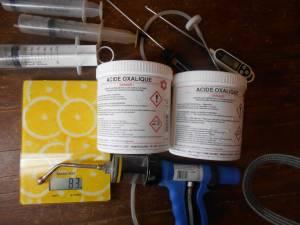 Préparer traitement bio acide oxalique